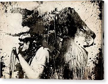 Dread Canvas Print - Lions by Bekim Art