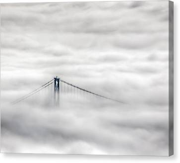 Canvas Print - Lionsgate In The Fog by R J Ruppenthal