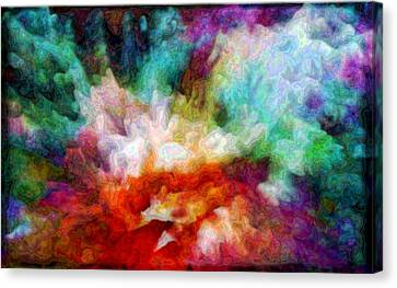 Liquid Colors - Enamel Edition Canvas Print by Lilia D