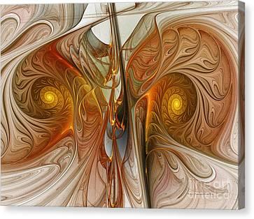 Surrealistic Canvas Print - Liquid Crystal Spirals by Karin Kuhlmann