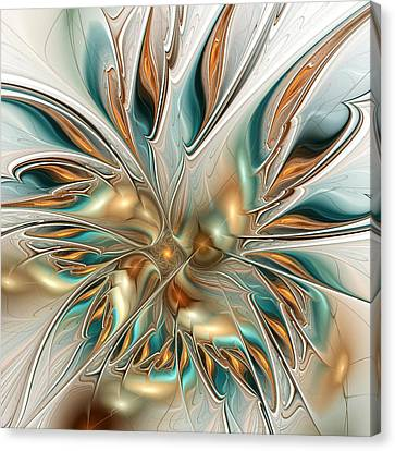 Liquid Flame Canvas Print by Anastasiya Malakhova