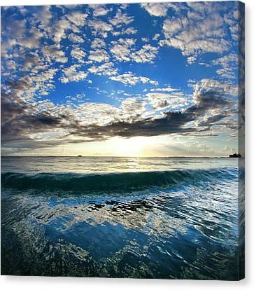 Blue Lava Canvas Print by Sean Davey