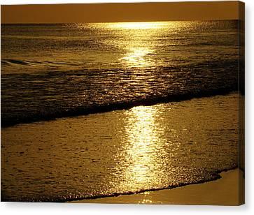 Panama City Beach Canvas Print - Liquid Gold by Sandy Keeton