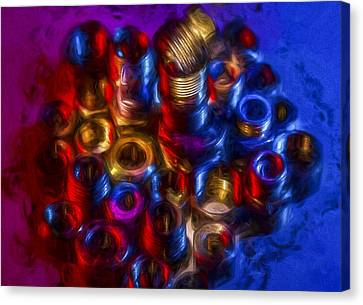 Liquid Nuts And Bolts Canvas Print by Vivian Frerichs