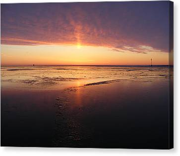 Liquid Sunrise Canvas Print