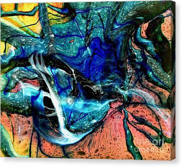 Abstract Digital Canvas Print - Liquidity by David Neace