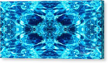 Liquify Blue Canvas Print