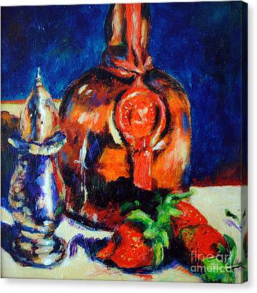 Liquor And Strawberries Canvas Print