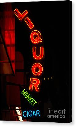 Liquor Market Canvas Print by Lee Roth