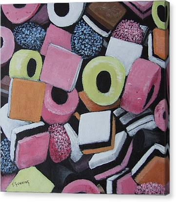 Liquorice Allsorts Canvas Print by Tony Gunning