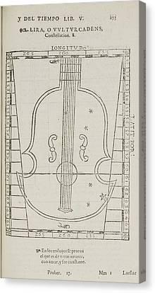 Lira Star Constellation Canvas Print by British Library
