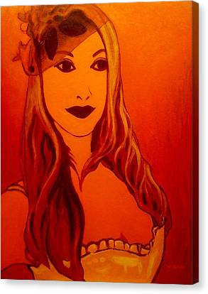 Lisa Darling II - The Irish Burlesque School Canvas Print by John  Nolan