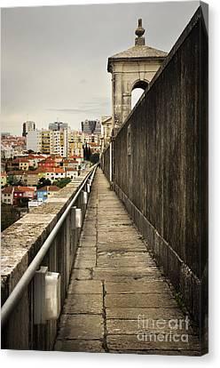 Lisbon Aqueduct Canvas Print by Carlos Caetano