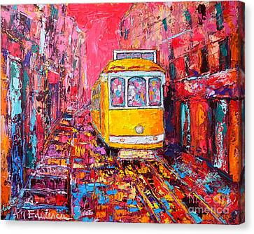 Lisbon Impression Canvas Print by Ana Maria Edulescu