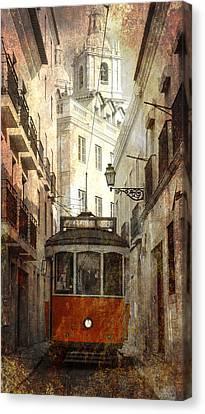 Lisbon Streetcar Canvas Print by Daniel Hagerman