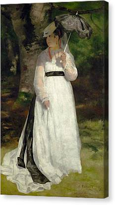 Lise With Umbrella Canvas Print