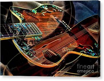 Listen To The Music Digital Guitar Art By Steven Langston Canvas Print by Steven Lebron Langston