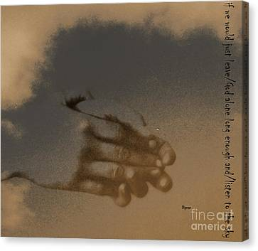 Listen To The Sky Canvas Print by Steven Digman