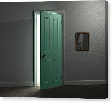 Lit Doorway Canvas Print by Robert Brook