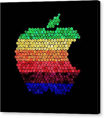 Lite Brite Macintosh Canvas Print by Benjamin Yeager