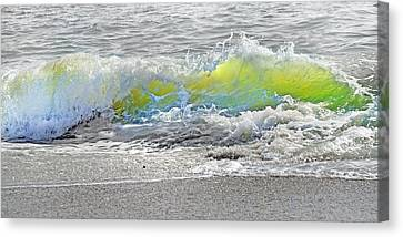 Green Energy Canvas Print - Literal Perception by Betsy Knapp