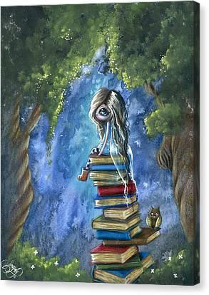 Literary Dream Canvas Print by Sour Taffy