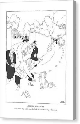 Literary Renegades The Albert Payson Terhune Canvas Print by Gluyas Williams