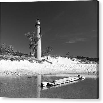 Litle Sable Light Station - Film Scan Canvas Print by Larry Carr