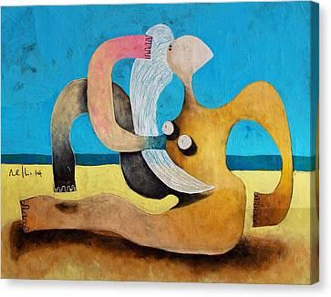 Primitive Nude Canvas Print - Litore No 1 by Mark M  Mellon