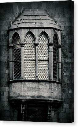 Lattice Castle Window Canvas Print by Nadalyn Larsen
