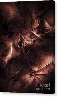 Litterfall In Autumn Canvas Print