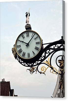 Little Admiral Clock York England Canvas Print