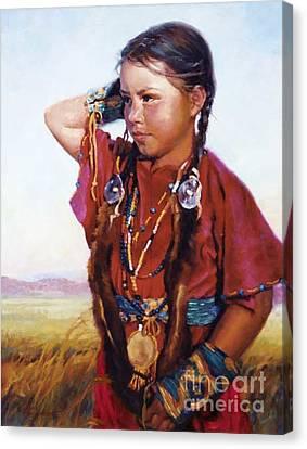 Little American Beauty II Canvas Print by Jean Hildebrant
