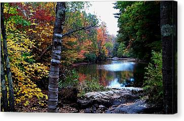 Little Androscoggin River Canvas Print by Mike Breau