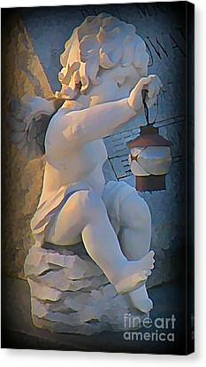 Little Angel With Lantern Canvas Print by John Malone
