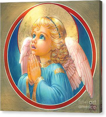 Little Angel Canvas Print by Zorina Baldescu