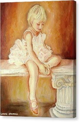Ballet Dancers Canvas Print - Little Ballerina by Carole Spandau