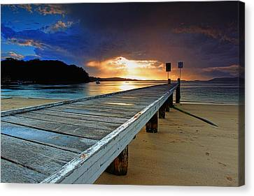 Little Beach Aglow Canvas Print by Paul Svensen
