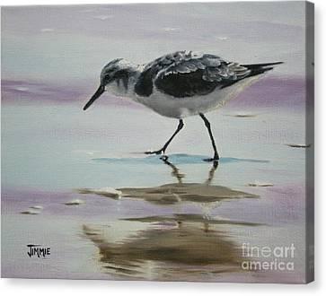 Little Beach Bird Canvas Print