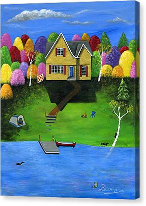 Little Bear Cottage Canvas Print by Brianna Mulvale