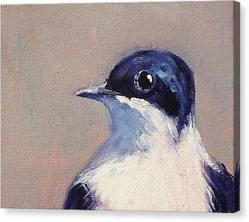 Little Blue And White Canvas Print by Nancy Merkle