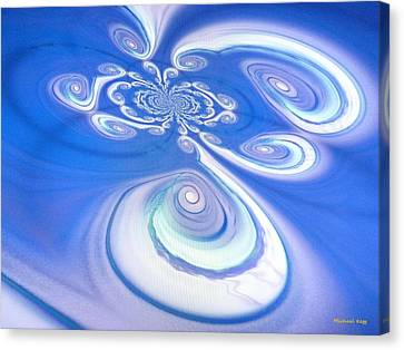 Michael Canvas Print - Little Blue Curly Q by Michael Kegg