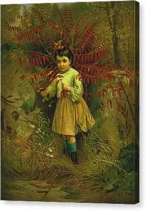 Little Bo Peep 1867 Canvas Print by JG Brown
