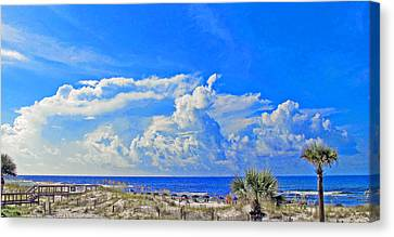 Little Boat Canvas Print by Russell Jenkins