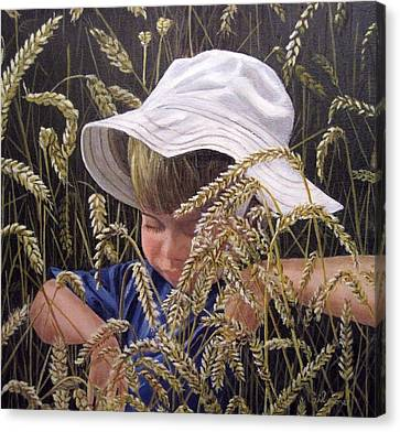Little Boy Blue Canvas Print by Roseann Gilmore