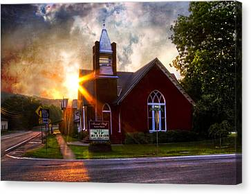 Little Brick Chapel Canvas Print by Debra and Dave Vanderlaan