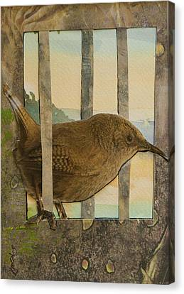 Little Brown Bird Canvas Print