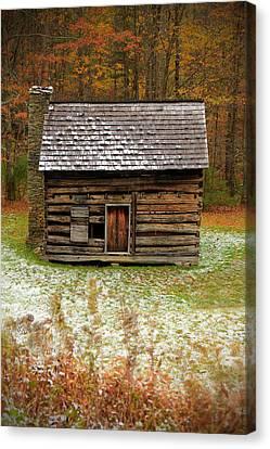 Little Cabin Canvas Print by Jaki Miller