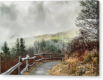Canvas Print featuring the photograph Little Cataloochee Overlook In The Great Smoky Mountains by Debbie Green