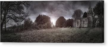 Little Church On The Hill Canvas Print by Jason Green